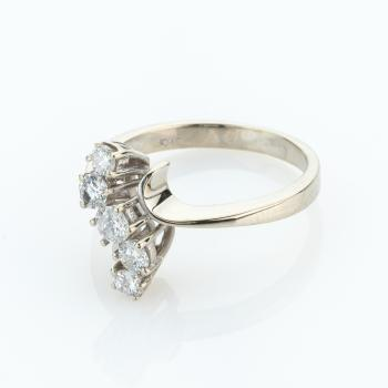 Ladies ring (14k gold) with diamonds